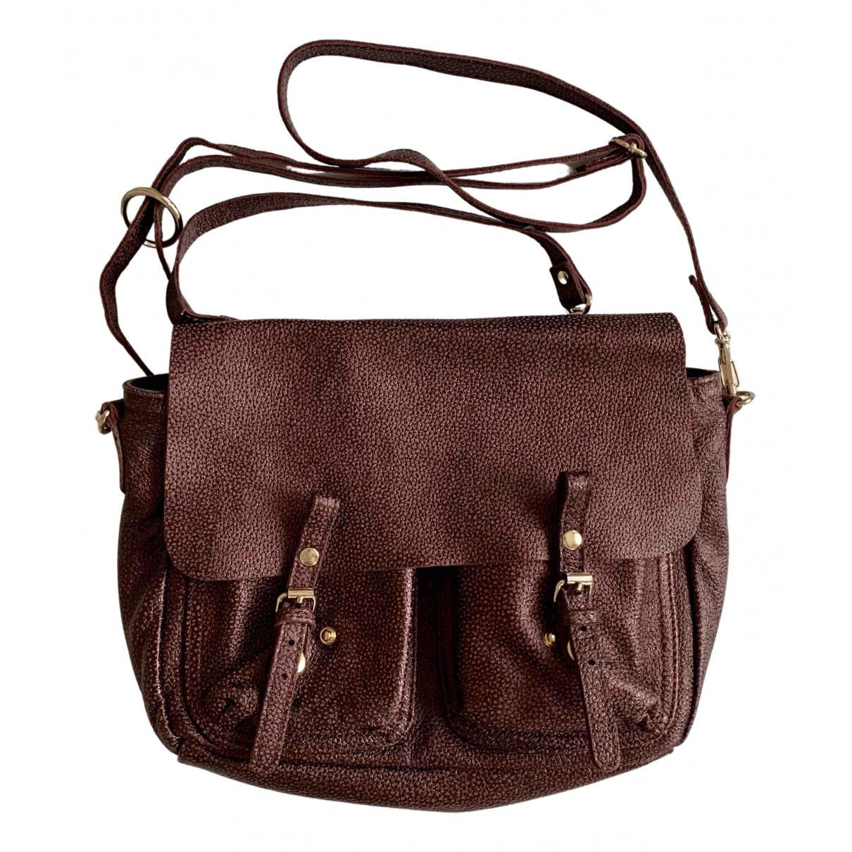 Craie \N Burgundy Leather handbag for Women \N