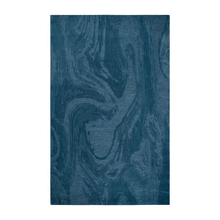 Rizzy Home Fifth Avenue Collection Zelda Abstract Hand-Tufted Area Rug, One Size , Blue