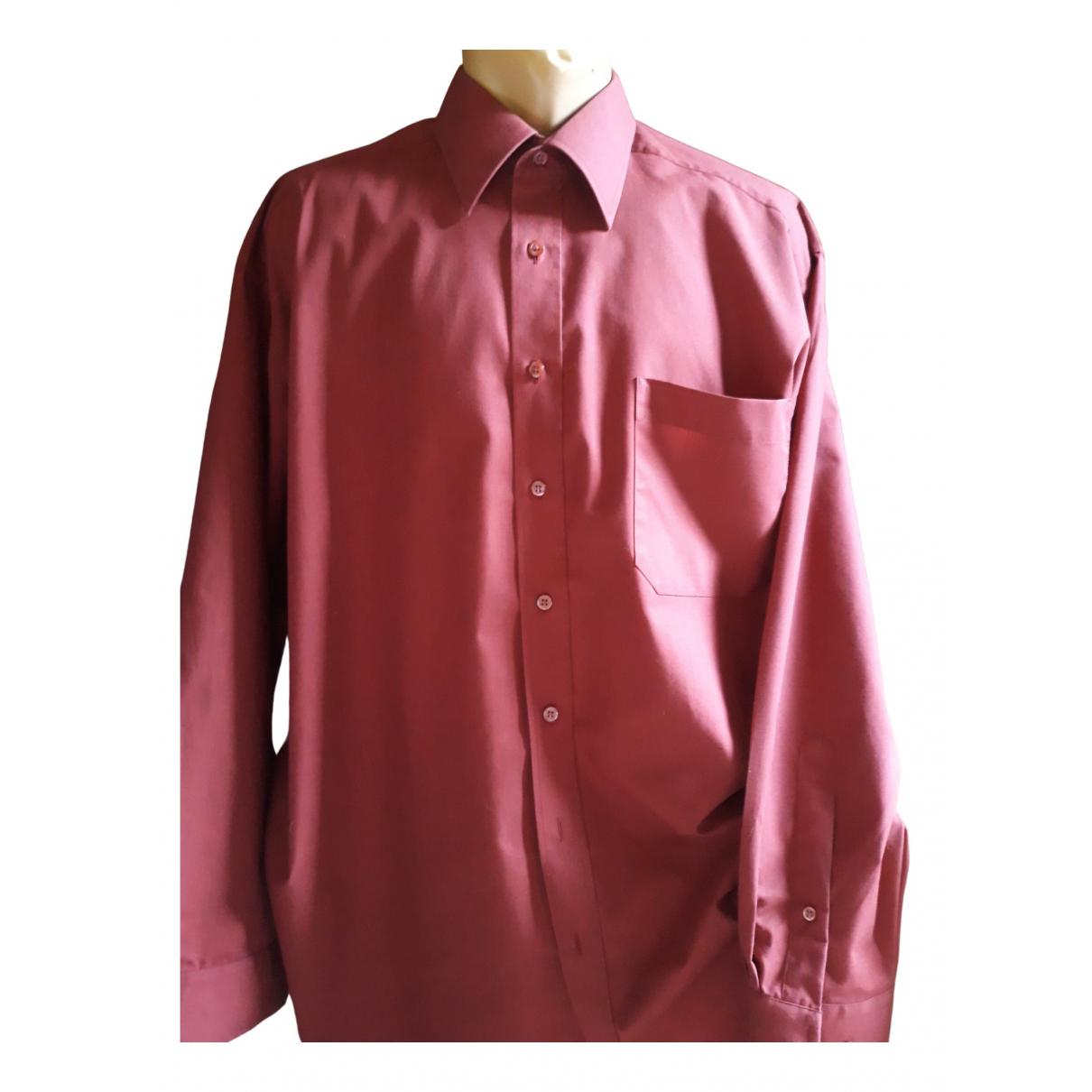 Paul Smith \N Burgundy Cotton Shirts for Men 44 EU (tour de cou / collar)