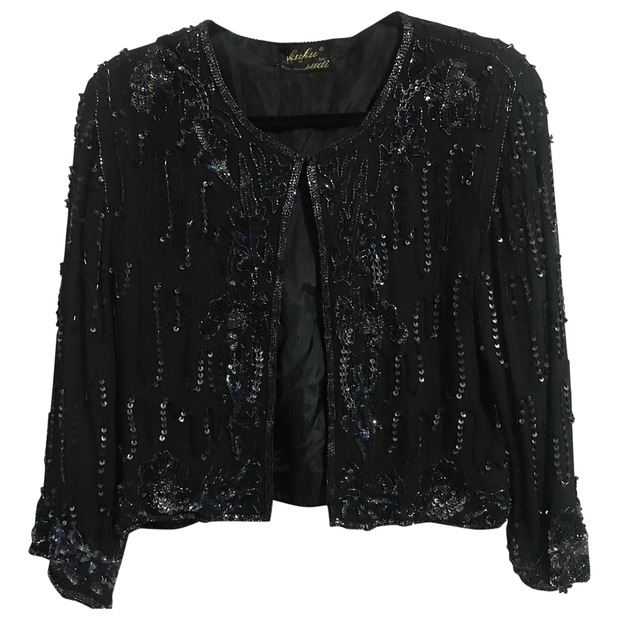 Non Signé / Unsigned \N Black Silk  top for Women M International