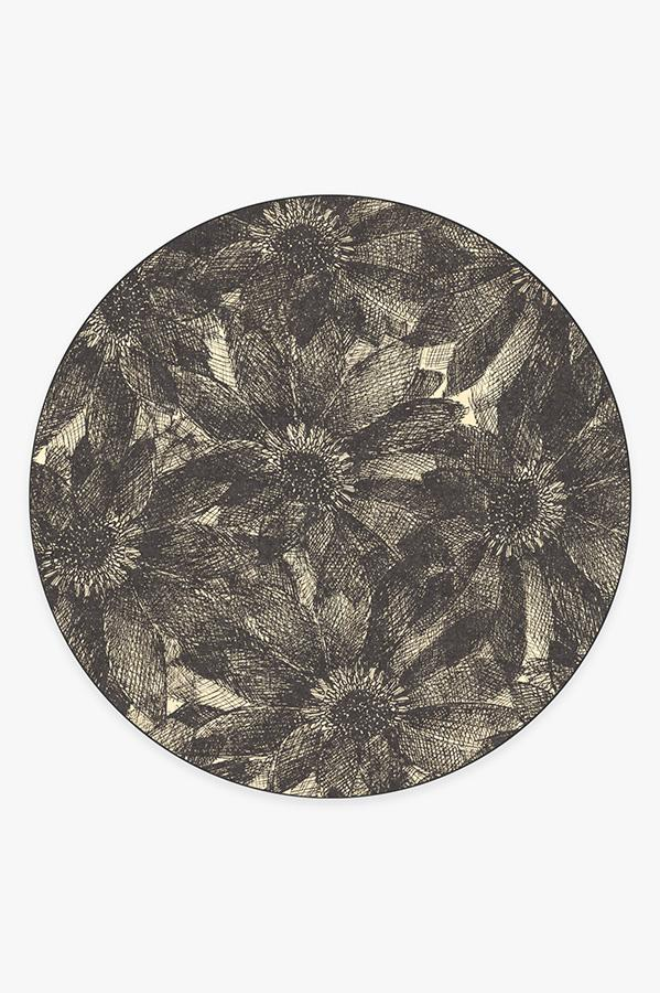 Washable Rug Cover | Aprilios Charcoal Rug | Stain-Resistant | Ruggable | 8' Round