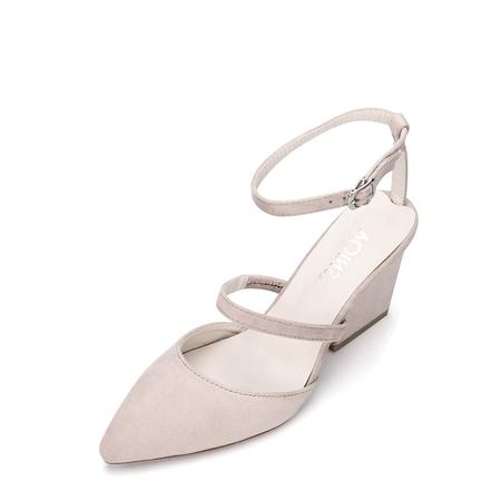 Yoins Pink Pointed Toe Single Strap Over Ladies Heels