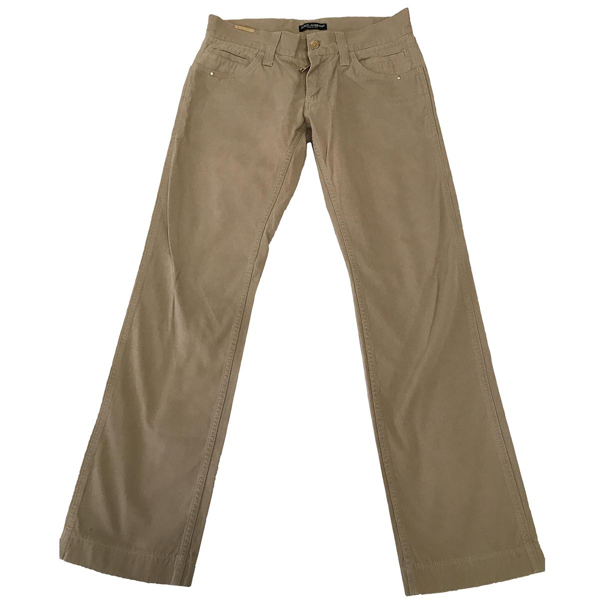 Dolce & Gabbana \N Beige Cotton Trousers for Men 46 IT