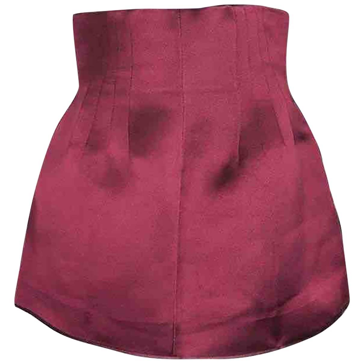 Prada - Jupe   pour femme en soie - bordeaux