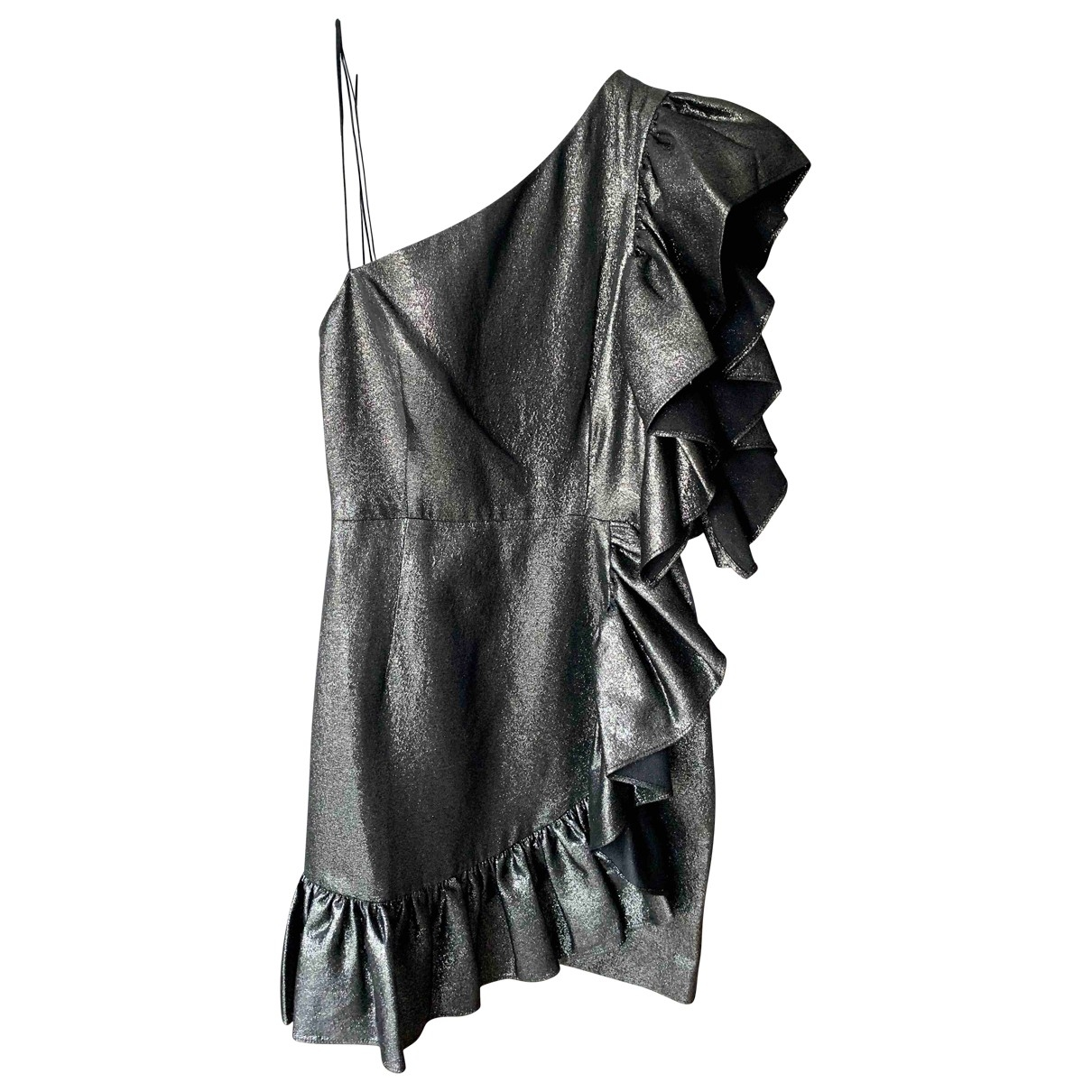 Sandro \N Anthracite Cotton dress for Women 1 0-5