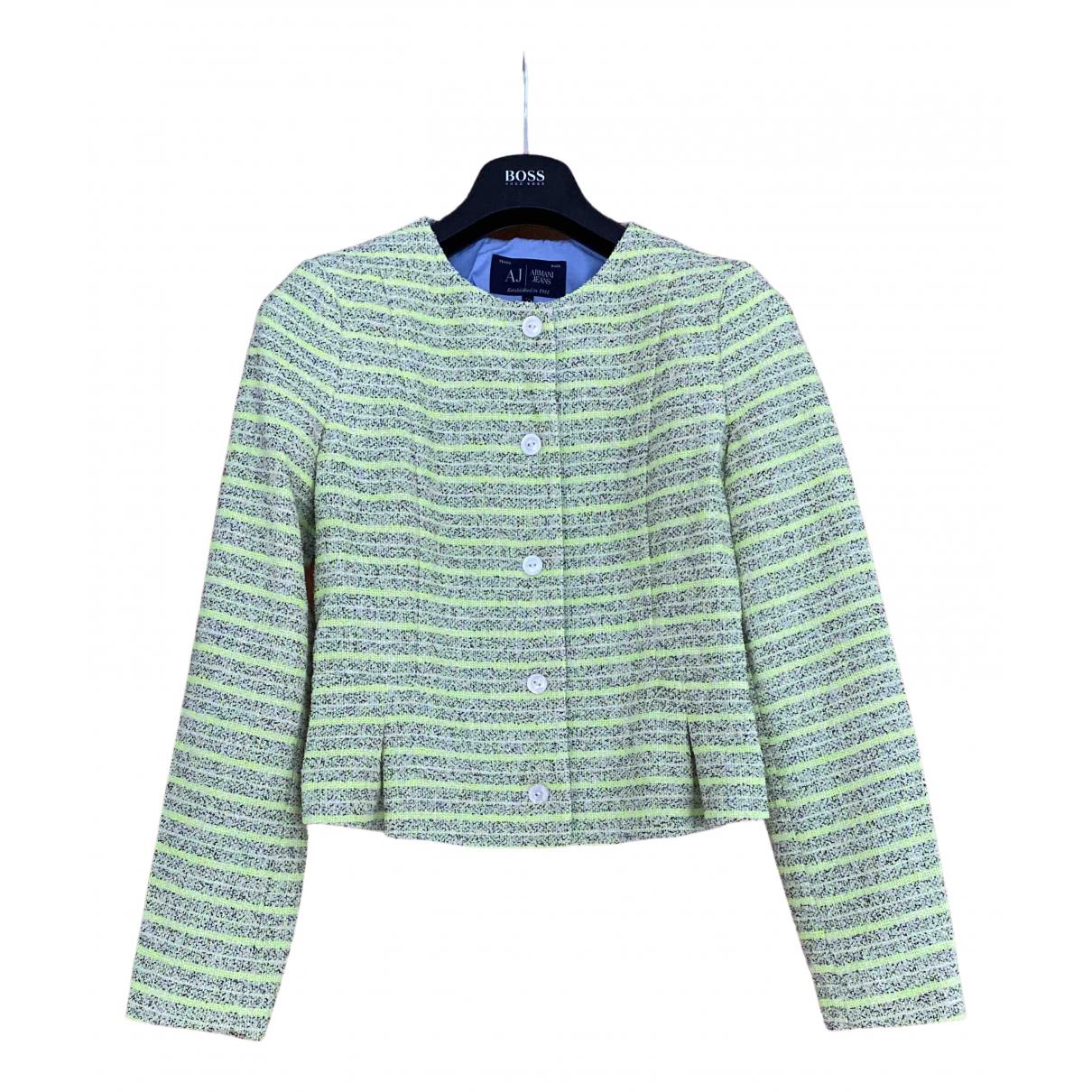Armani Jean - Manteau   pour femme en coton - blanc
