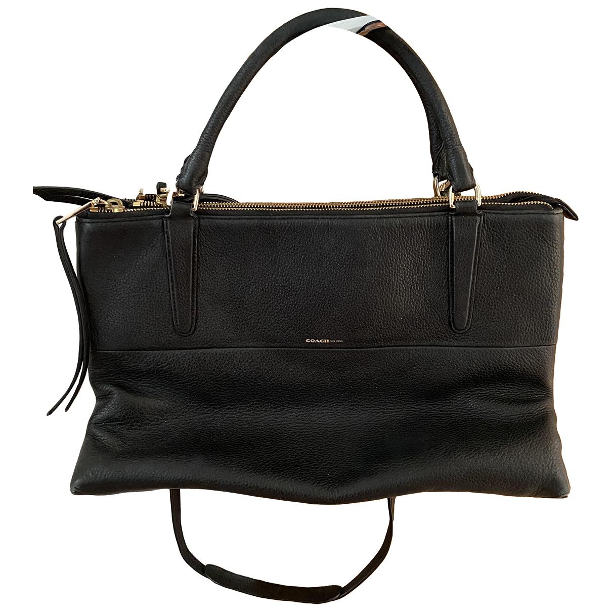 Coach Borough Bag Black Leather handbag for Women \N