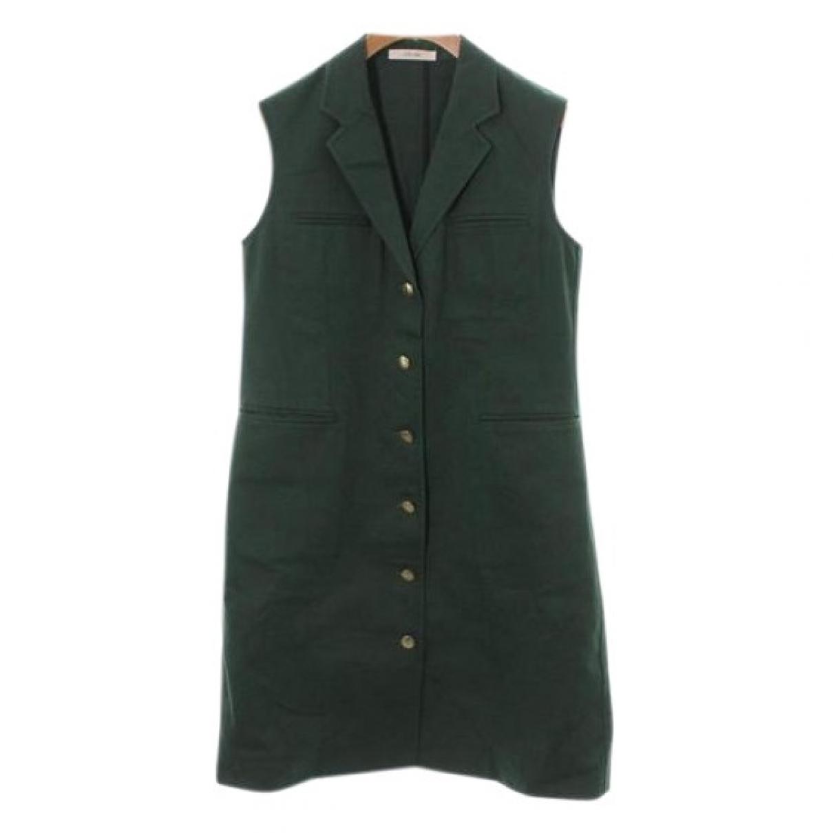 Celine \N Kleid in  Gruen Baumwolle
