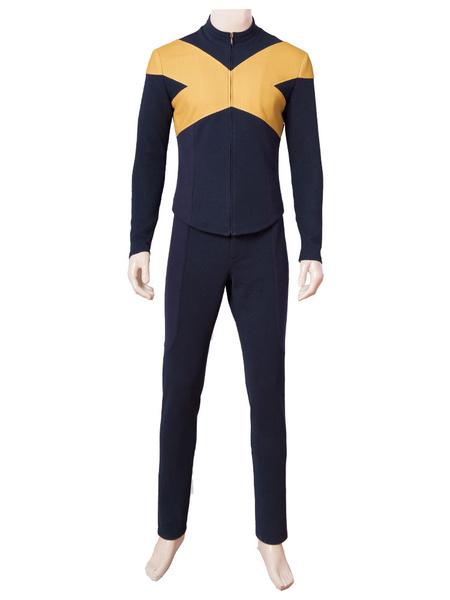 Milanoo Marvel Comics X Men Film Cosplay Dark Phoenix Costume Suit For Men Carnival