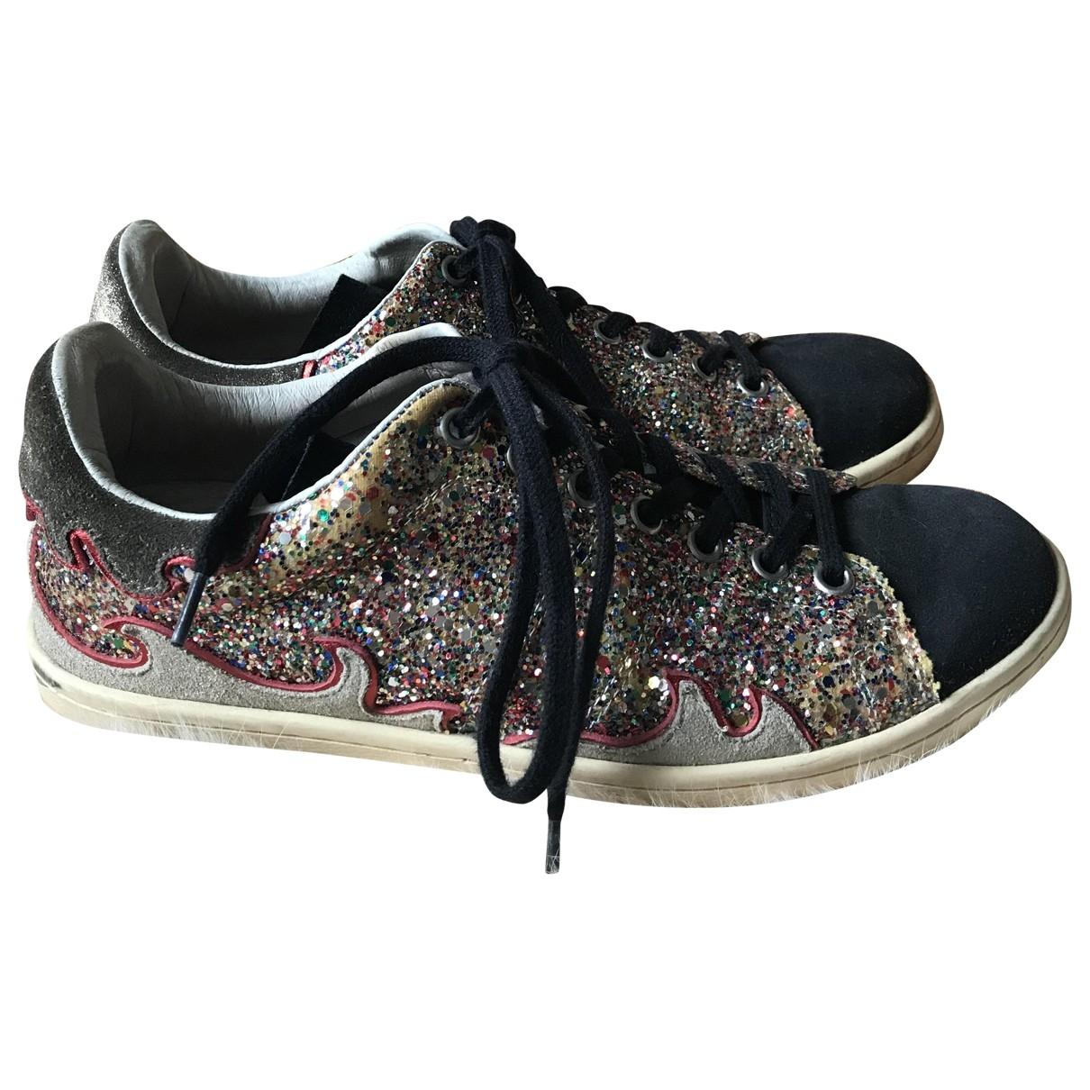 Isabel Marant Bart Sneakers in  Bunt Mit Pailletten