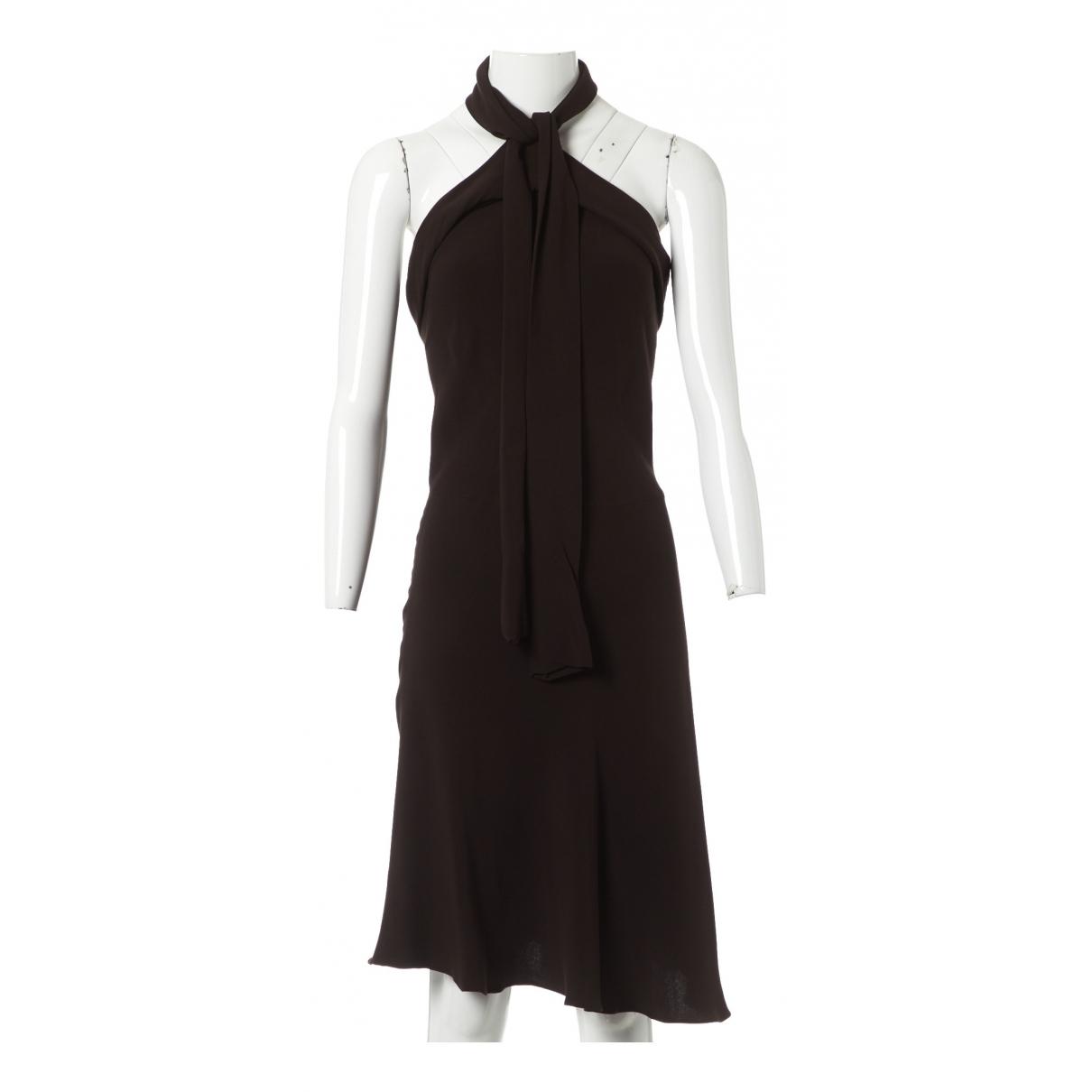 Balenciaga \N Kleid in  Braun Seide