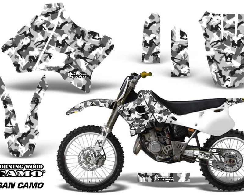 AMR Racing Dirt Bike Graphics Kit Decal Sticker Wrap For Yamaha YZ125 YZ250 1993-1995áURBAN CAMO WHITE