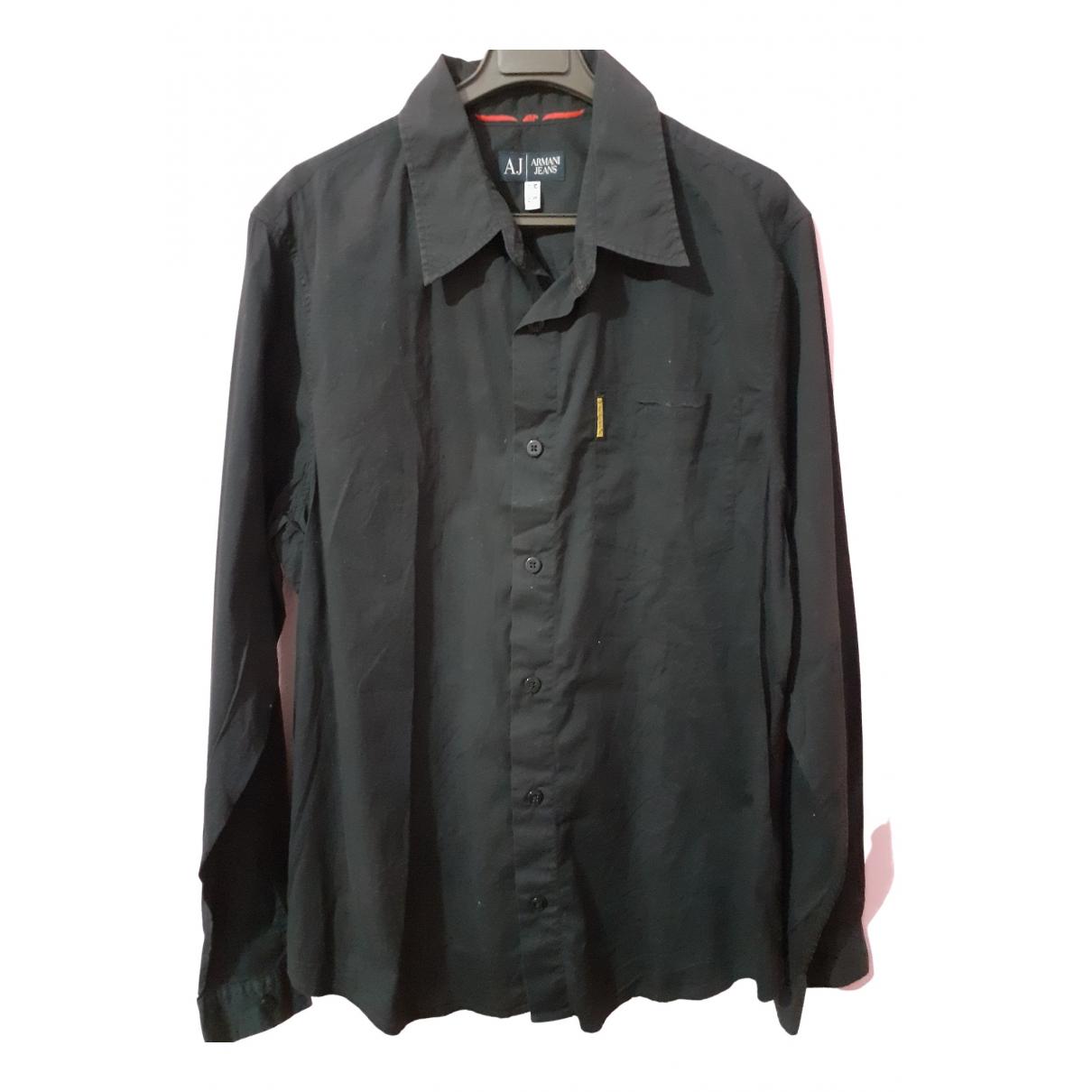 Armani Jeans \N Hemden in  Schwarz Baumwolle