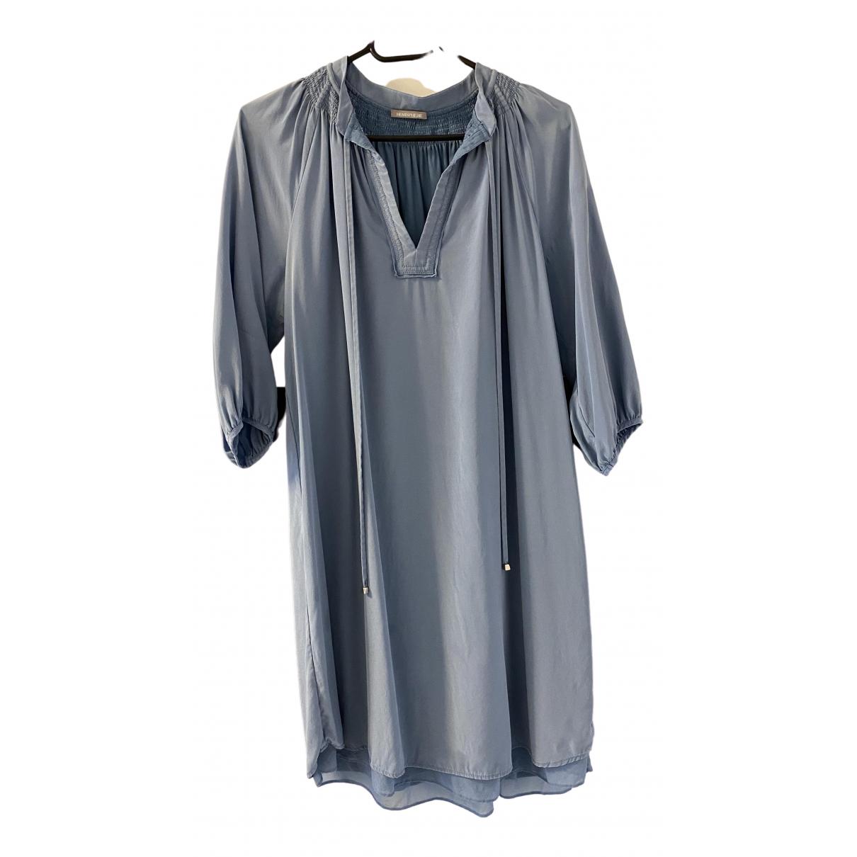 Hemisphere - Robe   pour femme en soie - bleu