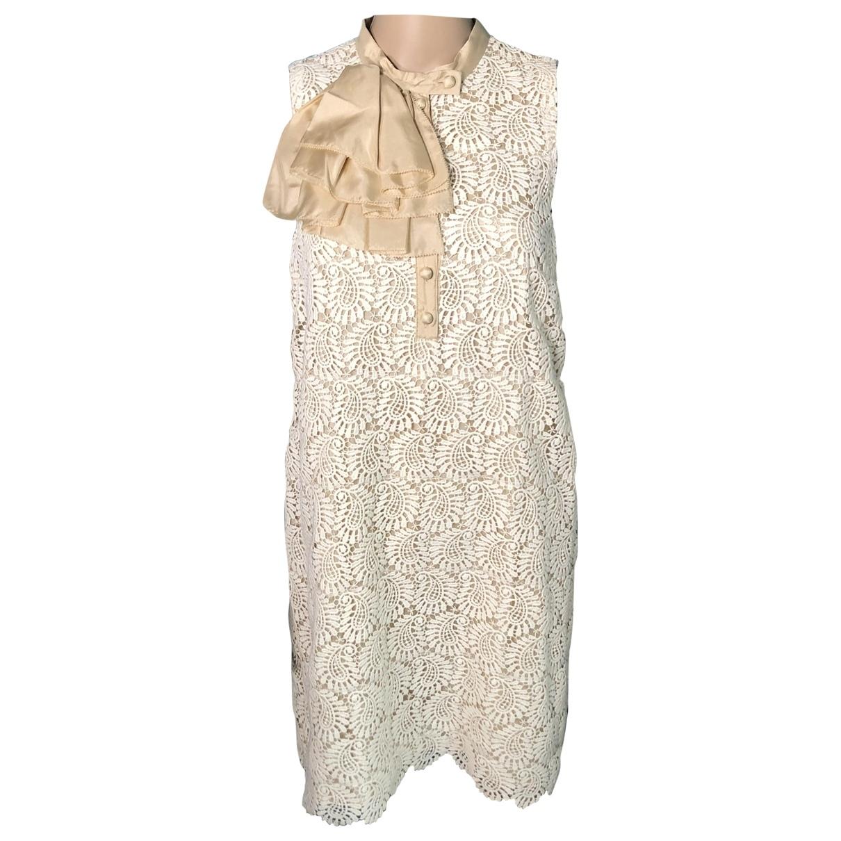 Hoss Intropia - Robe   pour femme en coton - ecru