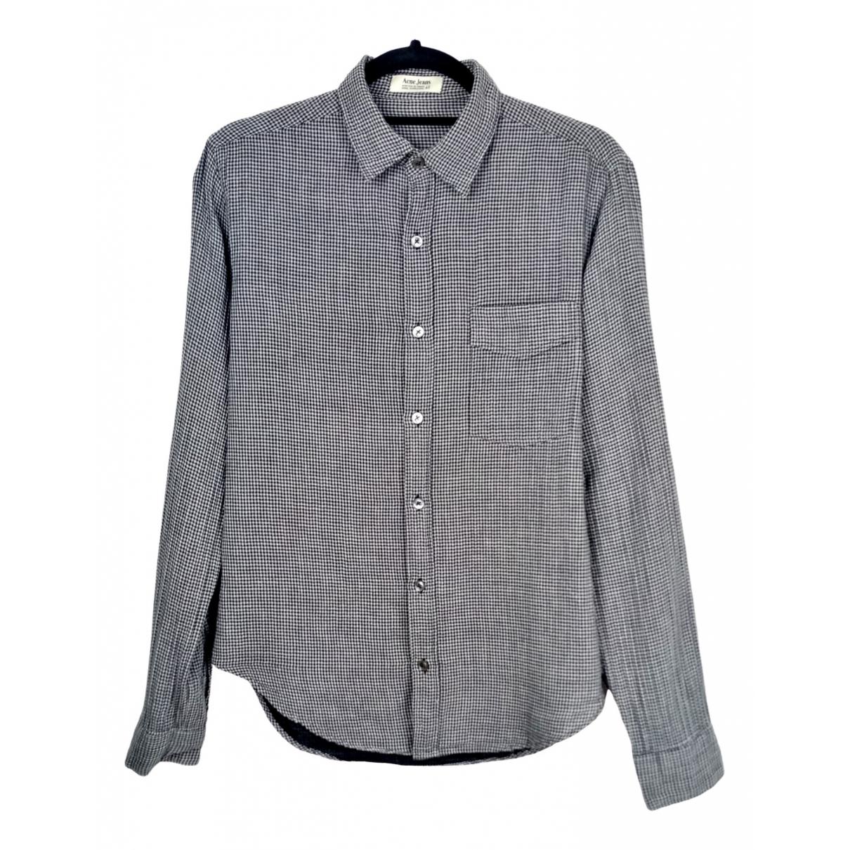 Acne Studios - Chemises   pour homme en coton - noir