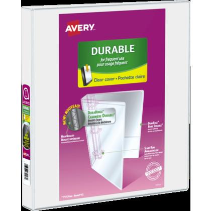 Avery® reliure de présentation durable, avec anneaux en D inclinés, Blanc - 1