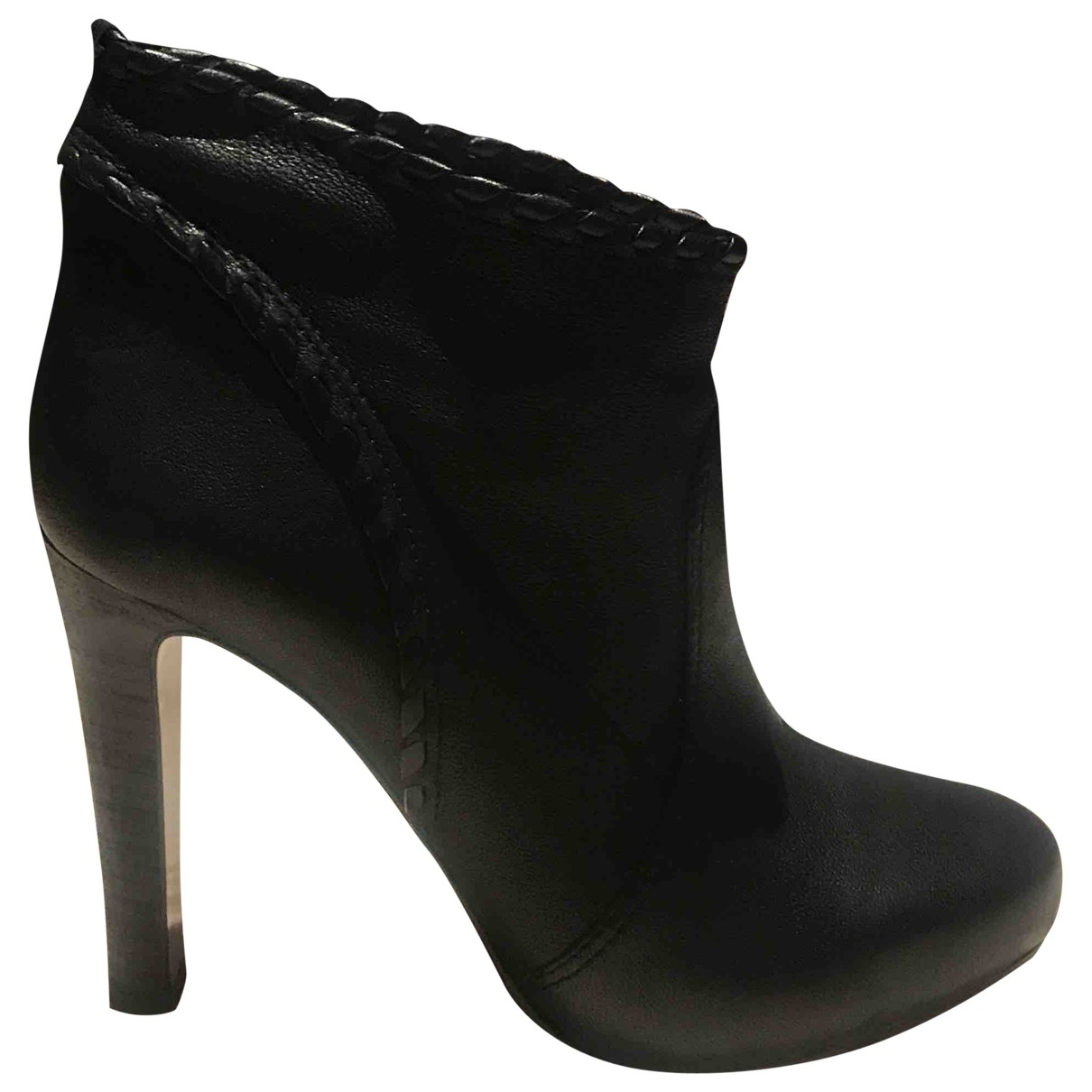 Hugo Boss \N Black Leather Ankle boots for Women 37 EU