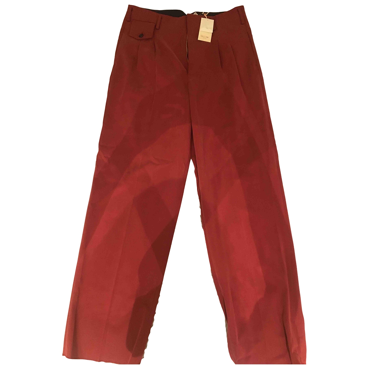 Golden Goose \N Red Cotton Trousers for Women M International