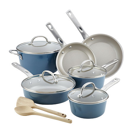 Ayesha Curry Home Collection 12-pc. Cookware Set, One Size , Blue