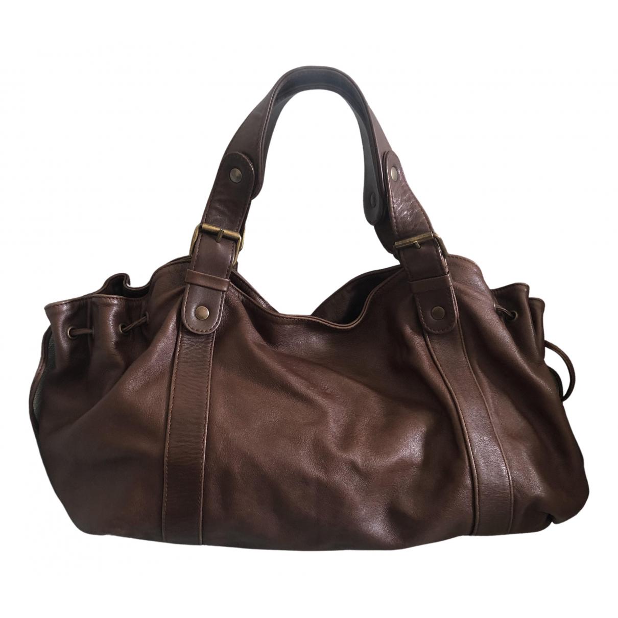 Gerard Darel 24h Brown Leather handbag for Women N