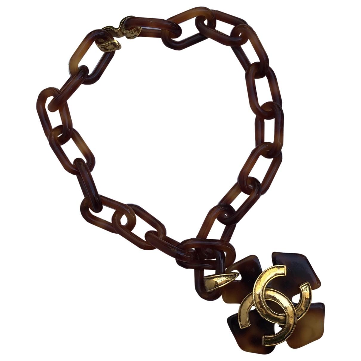 Chanel CC Kette in  Braun Metall