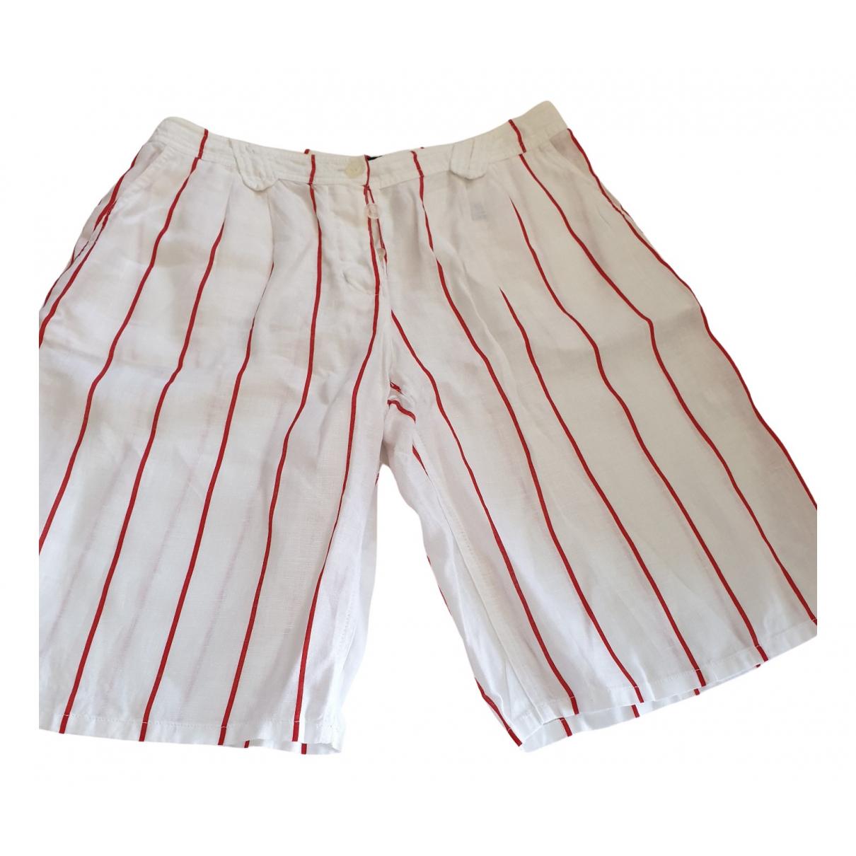 Armani Jeans \N White Cotton Shorts for Women 44 IT