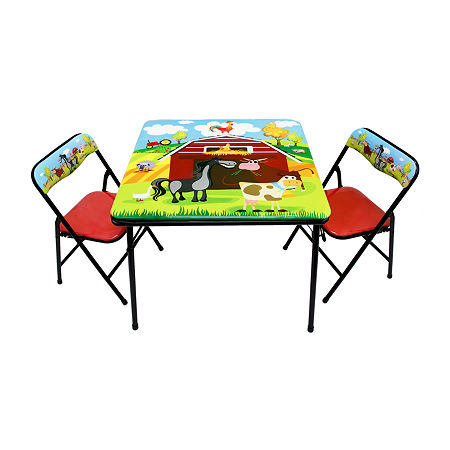 Gener8 Barnyard Table & Chairs 3-pc. Kids Table + Chairs, One Size , No Color Family