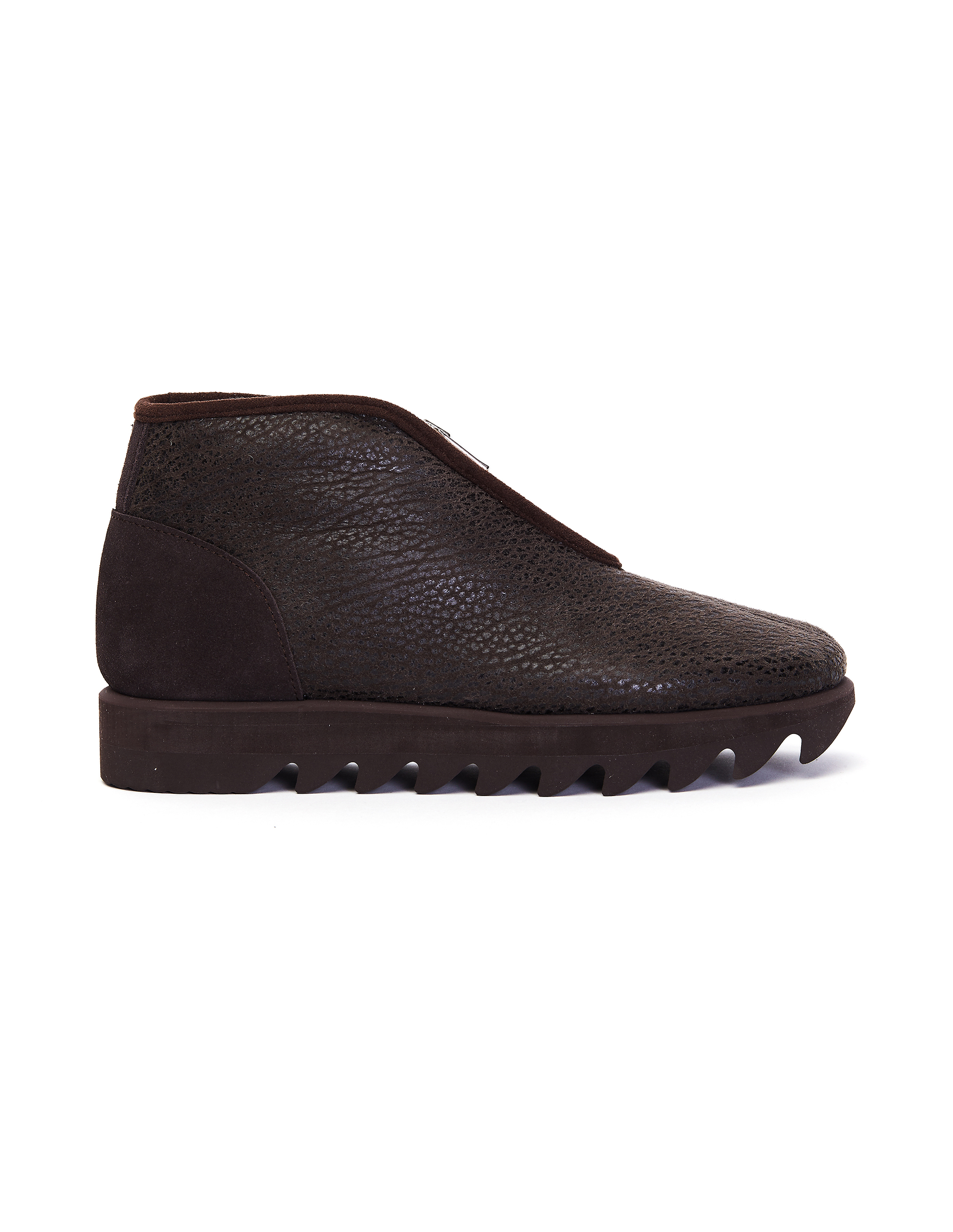 Hender Scheme Dark Brown Snuff Mouton Boots