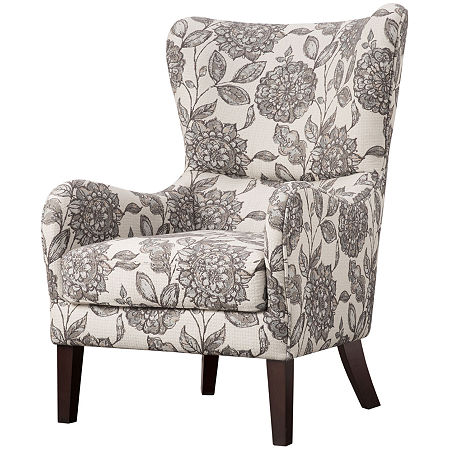 Leda Winged-Arm Accent Chair, One Size , Multiple Colors