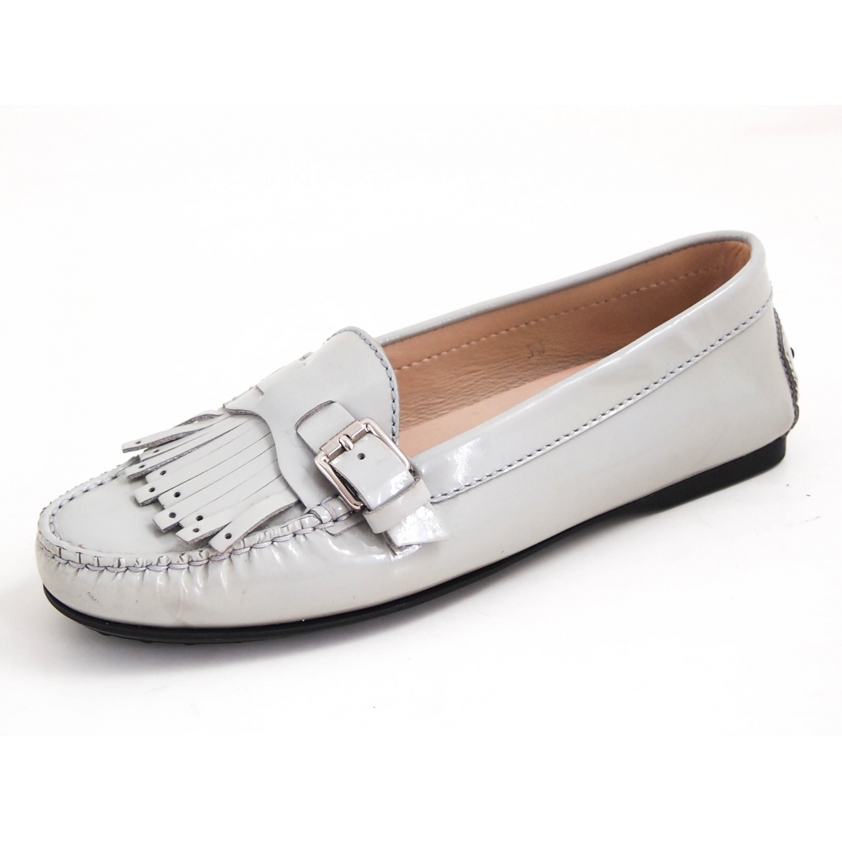 Tod's \N Grey Patent leather Flats for Women 35 EU