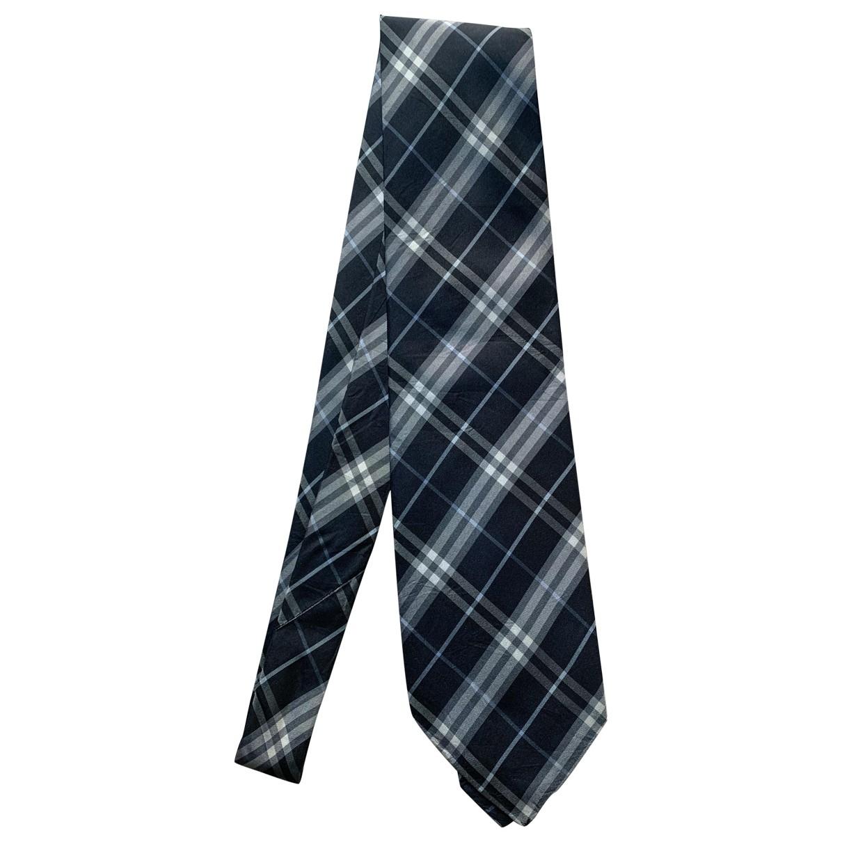 Burberry \N Blue Silk Ties for Men \N