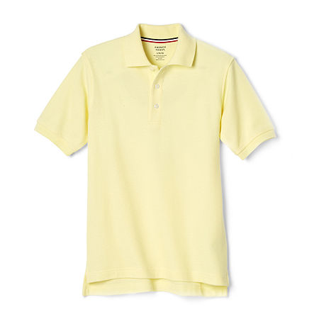 French Toast Little & Big Boys Short Sleeve Polo Shirt, X-small , Yellow