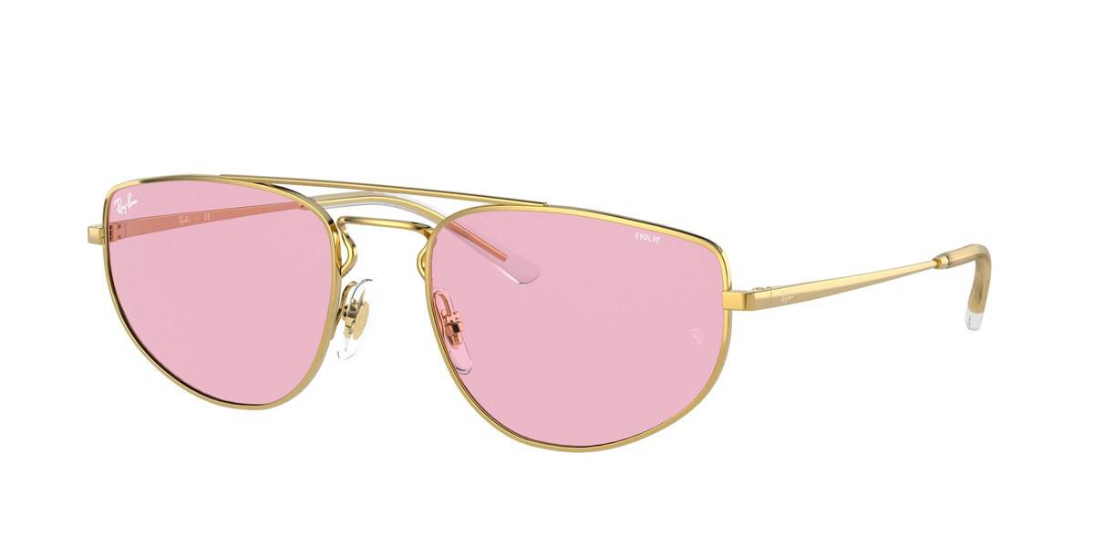 Ray-Ban RB3668 001/Q3 Men's Sunglasses Gold Size 55