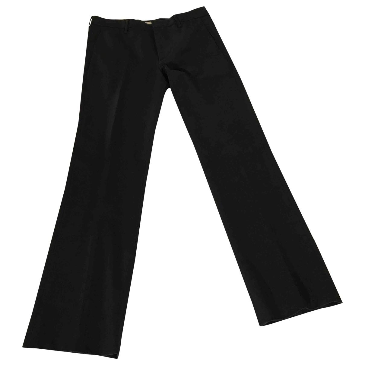 Prada \N Black Wool Trousers for Men 40 FR