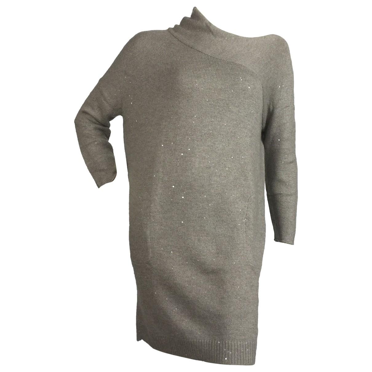 Brunello Cucinelli \N Kleid in  Beige Kaschmir