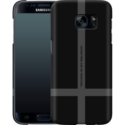 Samsung Galaxy S7 Smartphone Huelle - TECHNO IS MY RELIGION  von Berlin Techno Collective