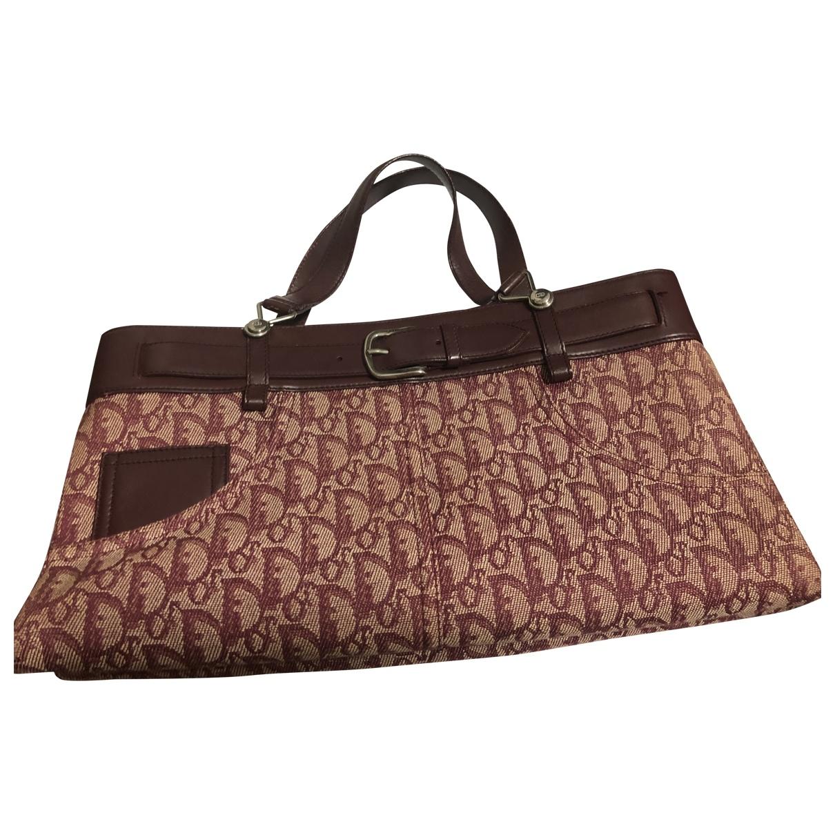 Dior \N Handtasche in  Rot Leinen