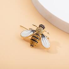 Rhinestone Decor Bee Brooch
