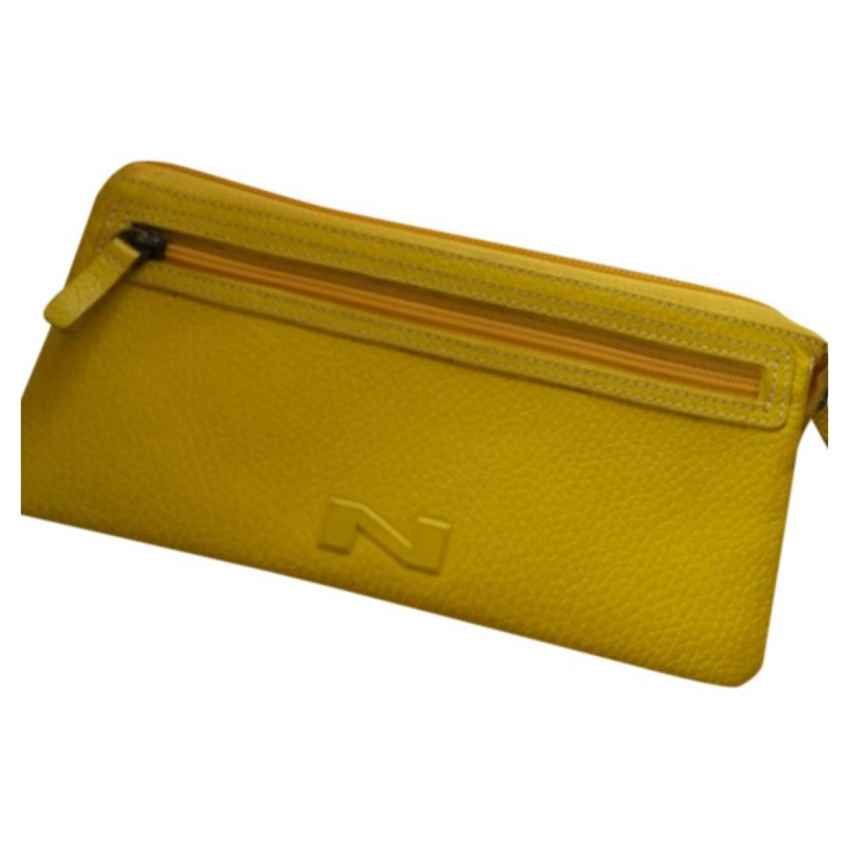 Natan \N Portemonnaie in  Gelb Leder
