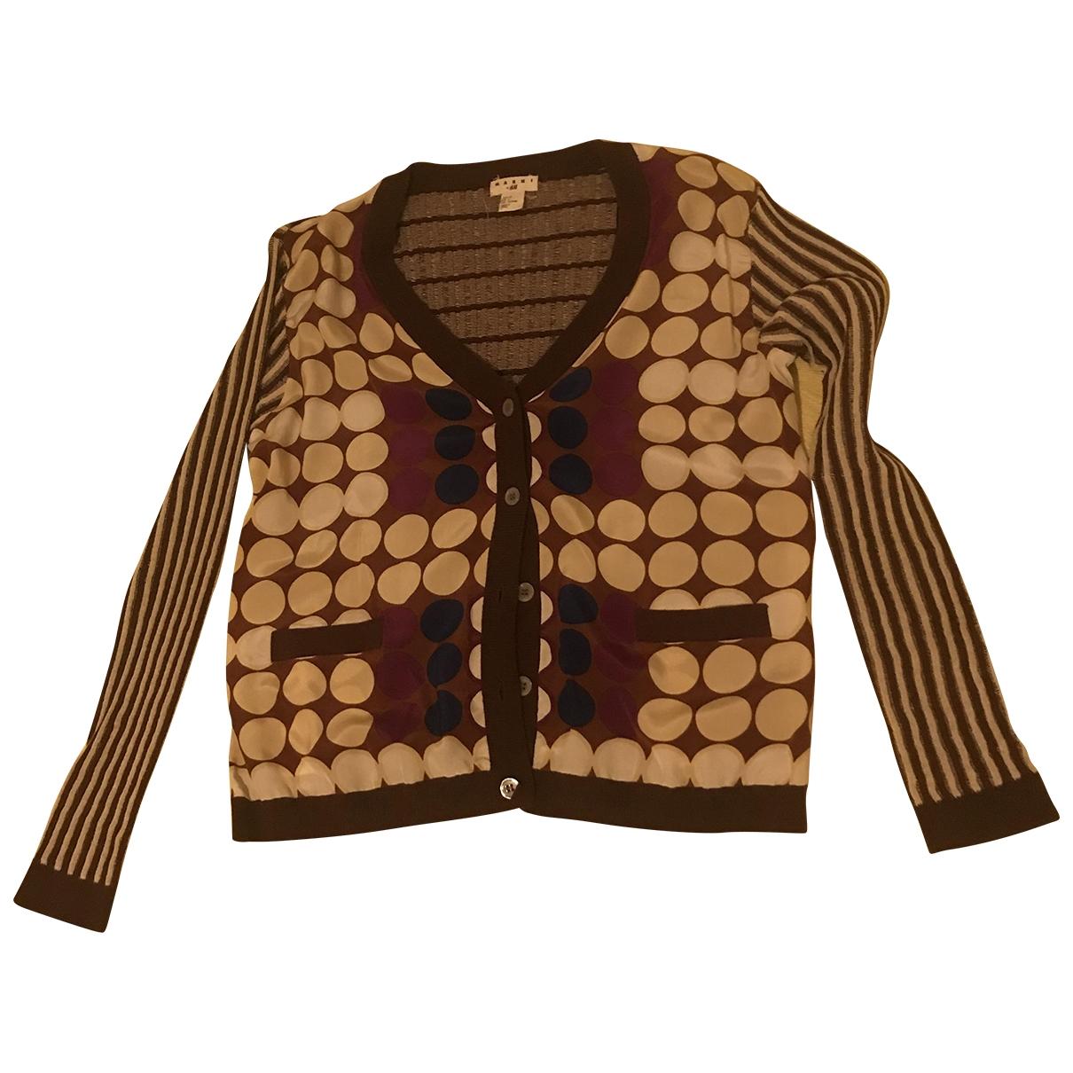 Marni For H&m - Pull   pour femme en coton - marron