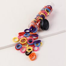 100pcs Solid Hair Tie