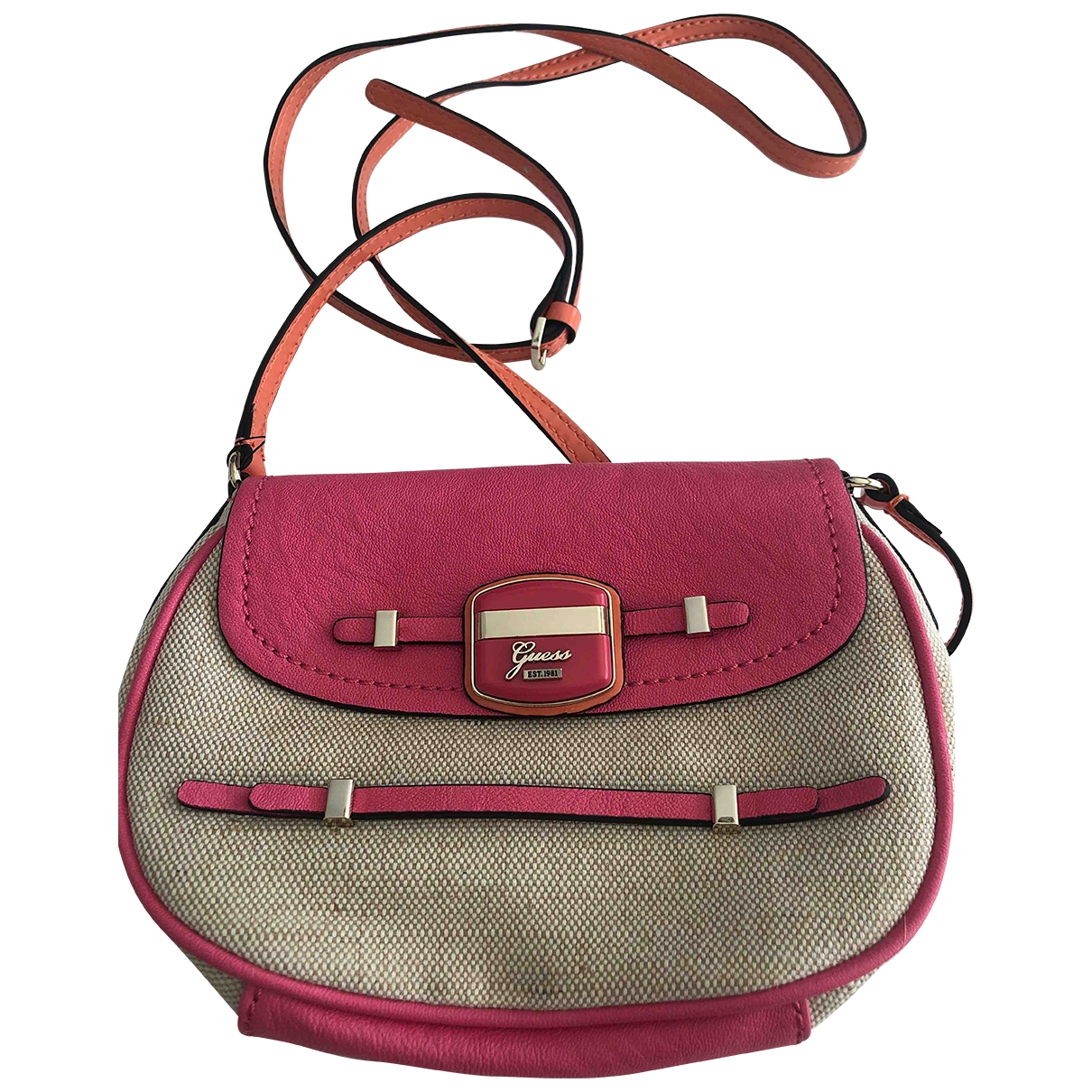 Guess \N Handtasche in  Ecru Leinen