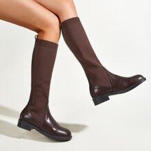 Stiefel mit runder Zehenpartie