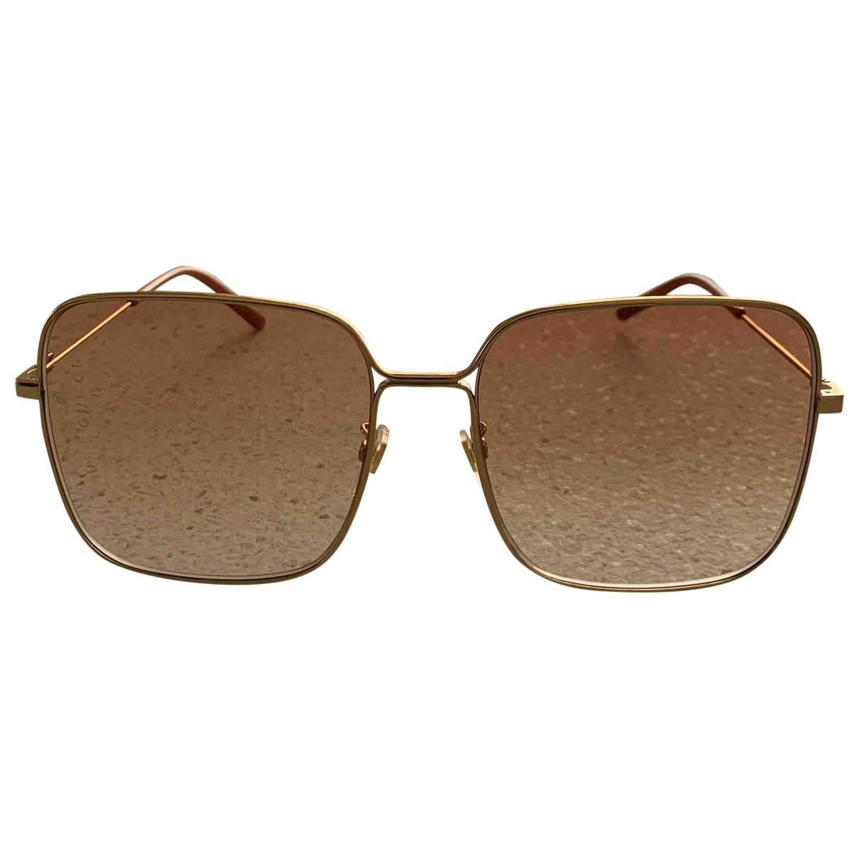 Gucci \N Beige Metal Sunglasses for Women \N