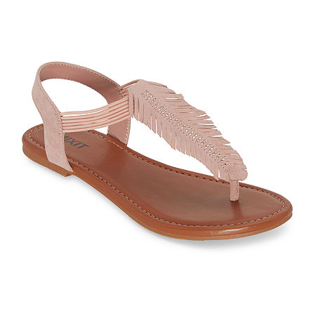 Mixit Womens Garlen Flat Sandals, 7 1/2 Medium, Pink