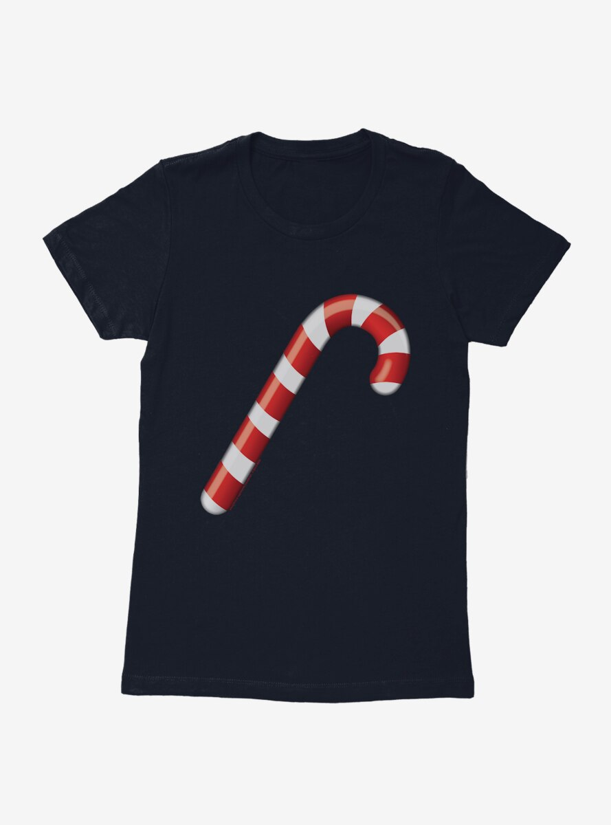 Emoji Holiday Icons Candy Cane Womens T-Shirt