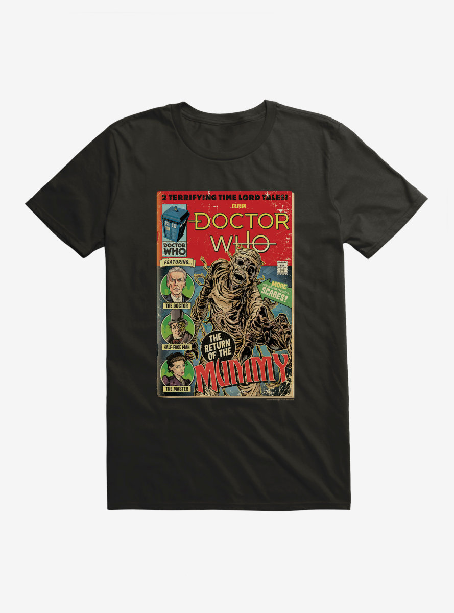 Doctor Who Return Of The Mummy Comic T-Shirt