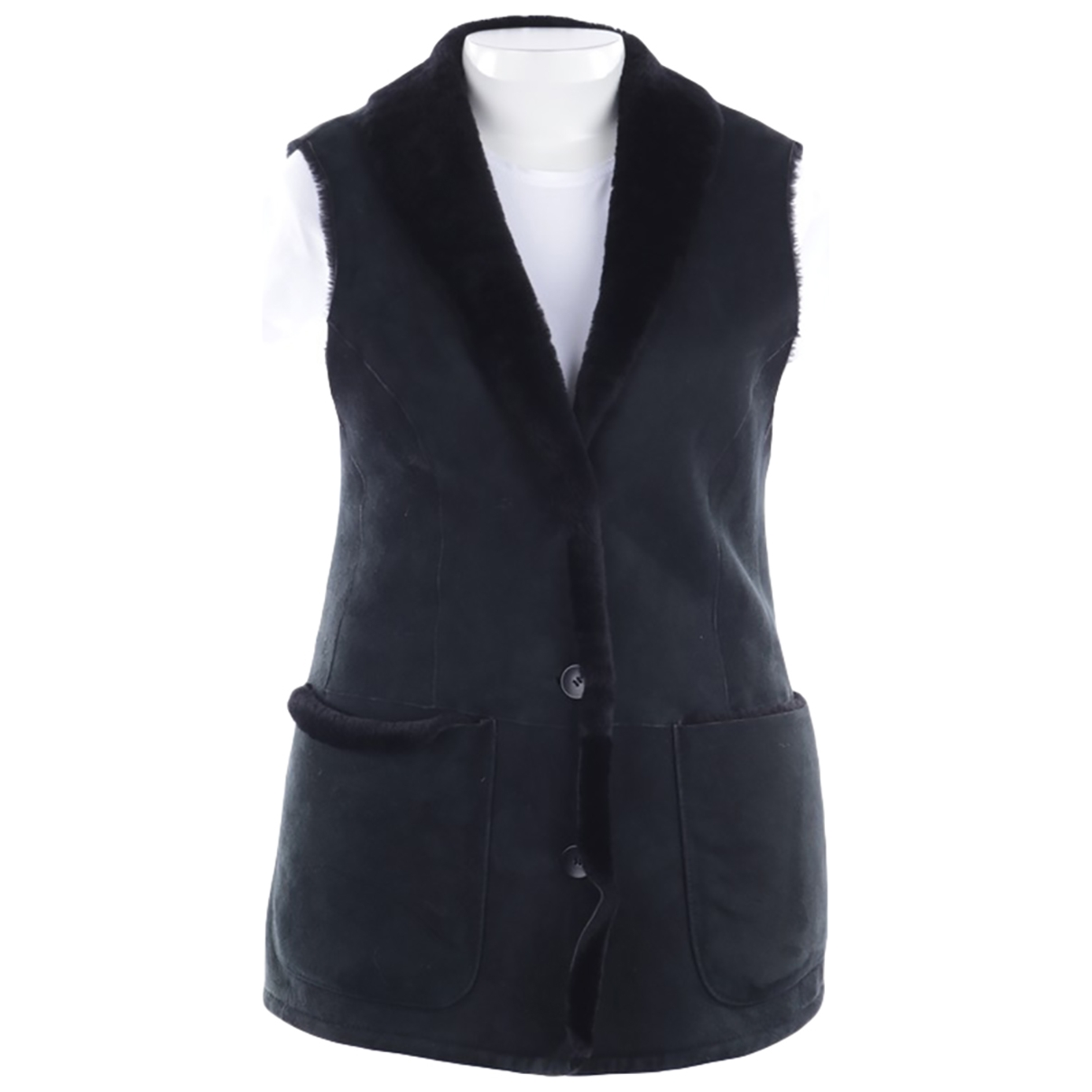 Marc Cain \N Black Leather  top for Women 40 FR