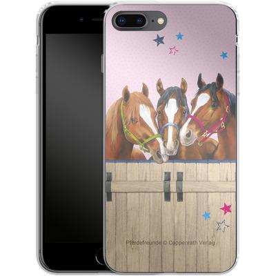 Apple iPhone 7 Plus Silikon Handyhuelle - Pferdefreunde 3 von Pferdefreunde